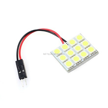 Super White New Energy-saving 5050 12-SMD LED Panel Dome Lamp Auto Car Licence Plate light