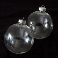 Wholesale Clear Glass ball Wedding Balls Christmas Glass Ornaments