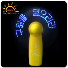 mini usb led clock fan with stand with real time display factory competitive price