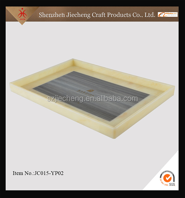 Jiecheng good quality rectangular clear acrylic tray with insert