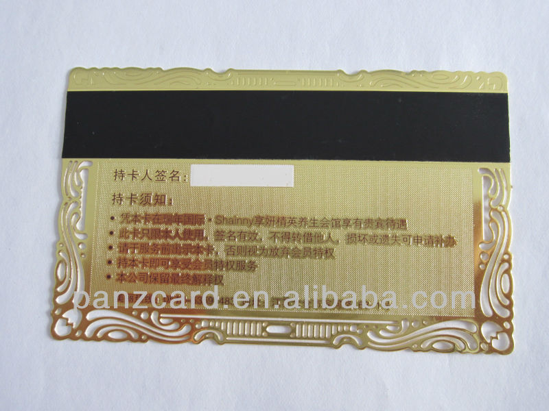 Guangzhou Manufacturer Factory produce High Quality Metalic Magnetic Card