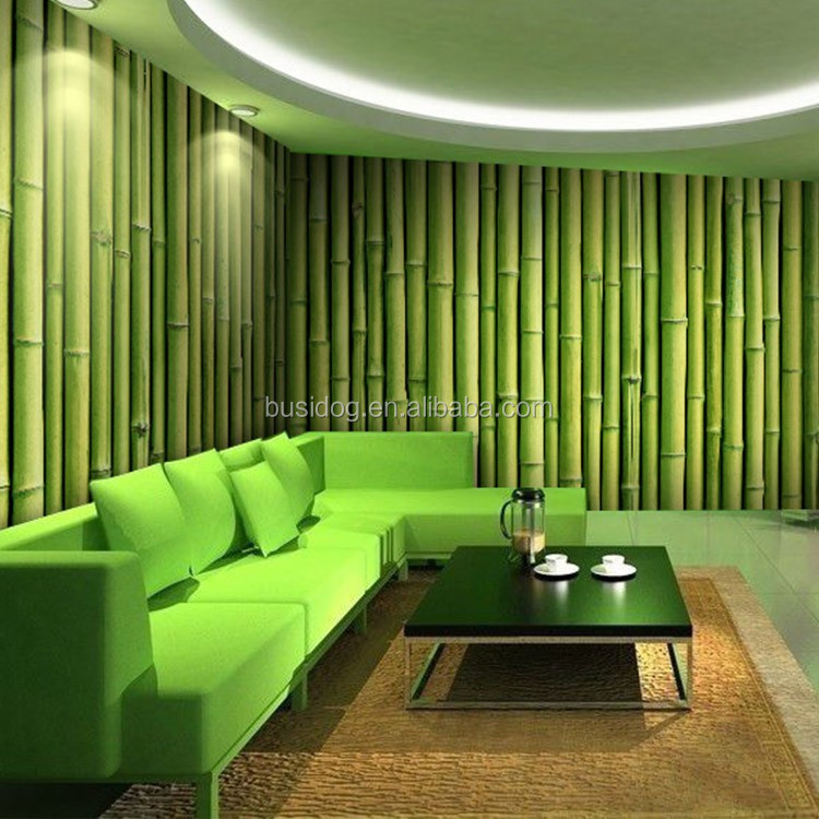3d bamboo design wall murals wallpapers for hotel or room for Bamboo mural wallpaper