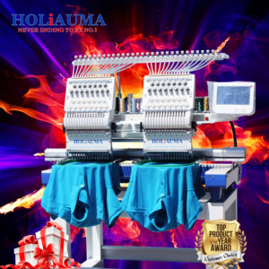 HOLiAUMA brother 2 heads embroidery machine multi function better than pe-770 type good quality as tajima for 10 year service