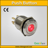 CE 19mm illuminated LED dot type light 6 pin push button 1NO1NC momentary electrical on-off switch S1GQ-11D/J/S