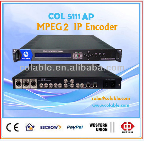 ip video encoder,sdi to ip encoder radio broadcasting equipment COL5111AP