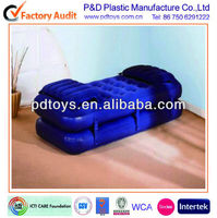 Inflatable air bed, Inflatable air mattress,2 layers flocked air-bed.