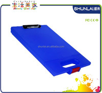 colorful plastic paper file holder, file stand, clipboard board with handle