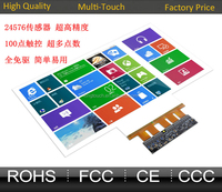 "Nanotechnology Transparent 47"" Interactive Touch Foil,Transparent Touch Film For Windows glass shop And Touch Table"