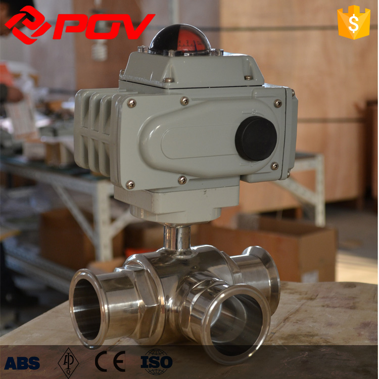 electric actuator 220V on-off type sanitary ball valve