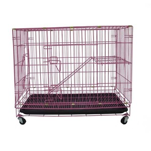 Wholesale house cat cute pet crate cat cages cat kennel with wheels