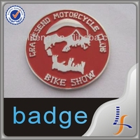 Custom made metal skull badge for bike club