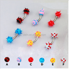 Unique Piercing Jewelry Colorful Hedgehog Eyebrow Ring