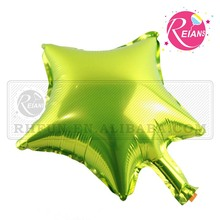 Reians customized 10 inch Apple Green star baloon shaped helium plastic balloon Party Decoration Supplies (Accept OEM,ODM)