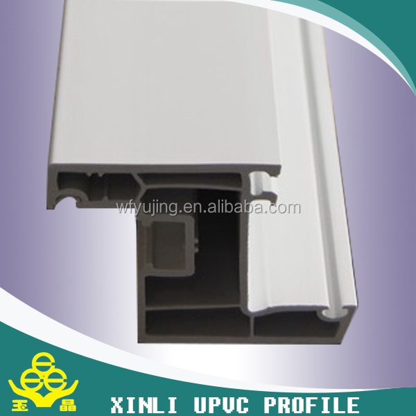 Europe 60mm white PVC profile for window and door
