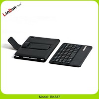 Wholesale Azerty Bluetooth Keyboard Leather Case With Usb Port For iPad Mini BK337