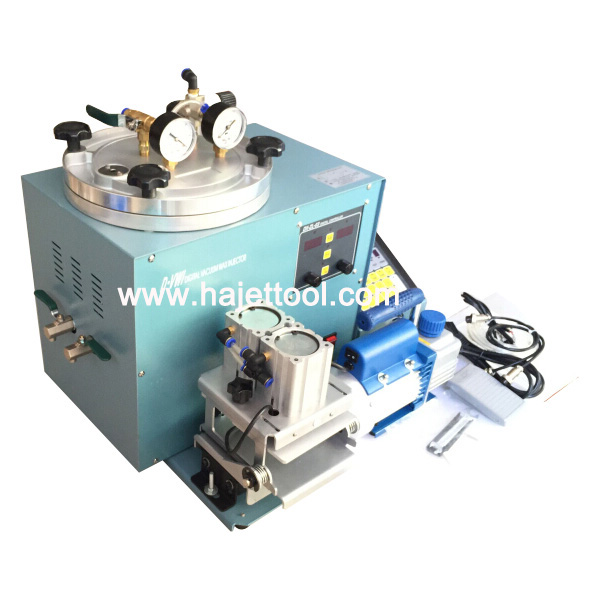 Yasui Type Digital Vacuum Wax Injector With Double Clamp And Vacuum Pump Jewellery Casting Machine Wax Casting Tools
