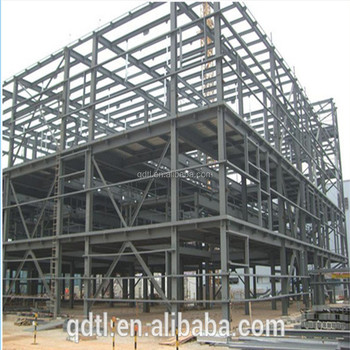 prefabricated steel structure shopping mall building