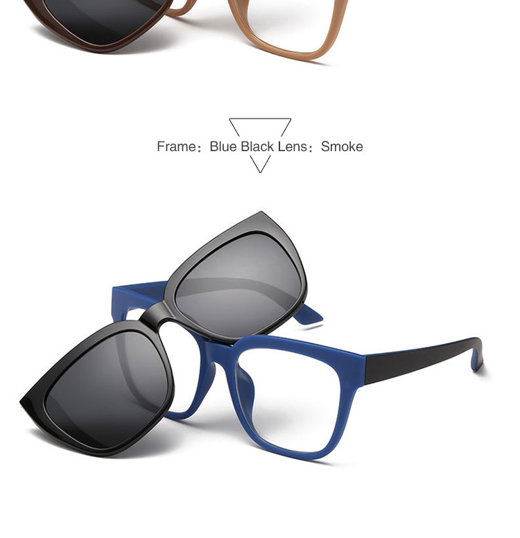 Glasses Frames With Magnetic Sunglasses : Tr90 Eyeglasses Frames With Magnetic Polarized Sunglasses ...