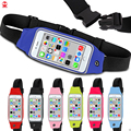 Wholesale High Quality Runner Gym Jogging Touch Screen Zipper Reflective Sport Running Waist Belt for Iphone 6 Plus Samsung