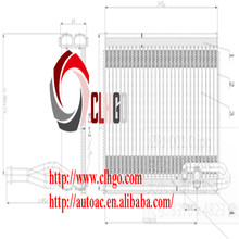 Hot Selling Auto AC Excellent Evaporator Core For PEUGEOT 307