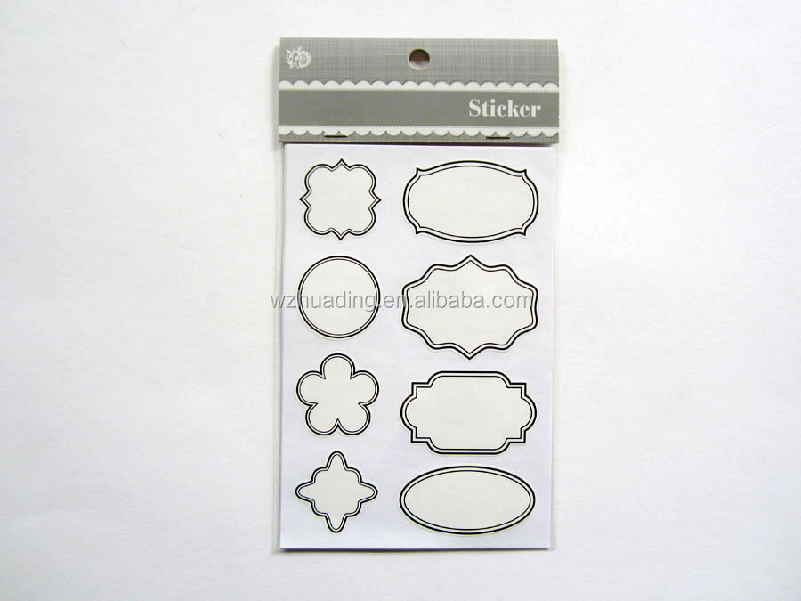 wholesale best quality self-adhesive blank sticker label,bottle label printing