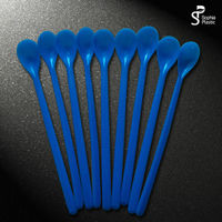 Food grade long handle tea spoons Mini plastic spoon disposable