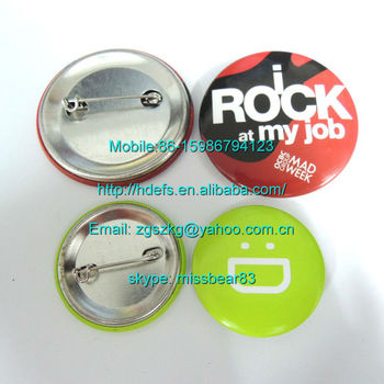 58MM badge buttons for promotional