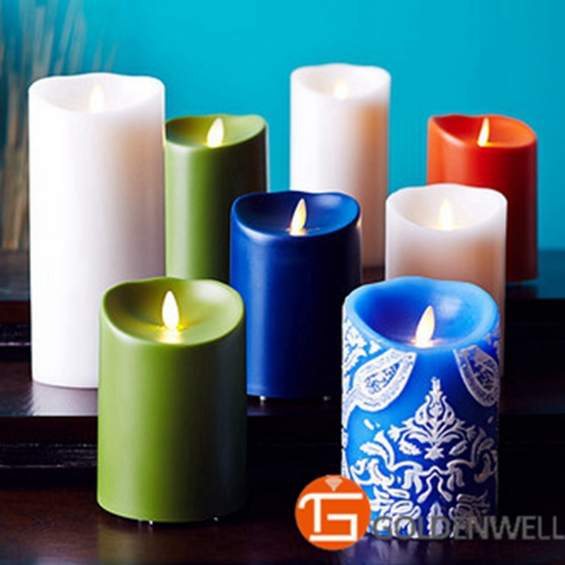 Paraffin Wax Flicker Luminara Led Candle With Remote