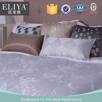 ELIYA 250TC Cotton White Hotel Jacquard Bed Sheets Quilt Cover Set