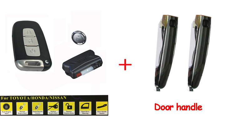 door handle switch PKE keyless entry system remote engine start stop car alarm system