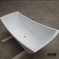 Top quality artificial stone resin freestanding bath