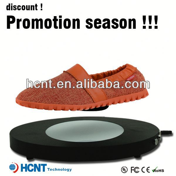 new invention ! magnetic levitating led display stand for shoe woman,martial arts shoe