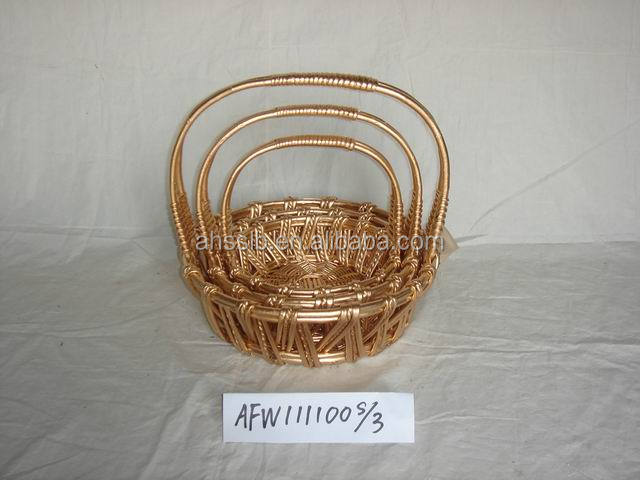 Gold Wicker Basket