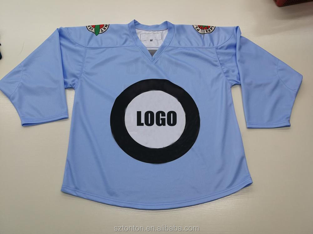 Tackle Twill Custom Silk Screen High Quality Hockey Jersey