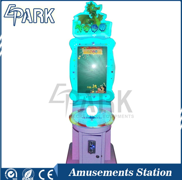 Coin operated electronic amusement game machine with ball joystick sales