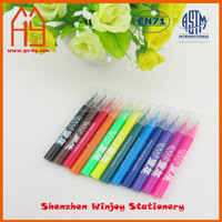 Washable fine tip markers 12pcs in pvc bag