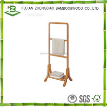 Bamboo shower shelf bamboo towel stand for bathroom