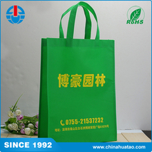 Fugang Newest Promotion Recycle Green PP Non Woven Bags For Shopping