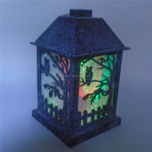 halloween decorative wooden candle holder
