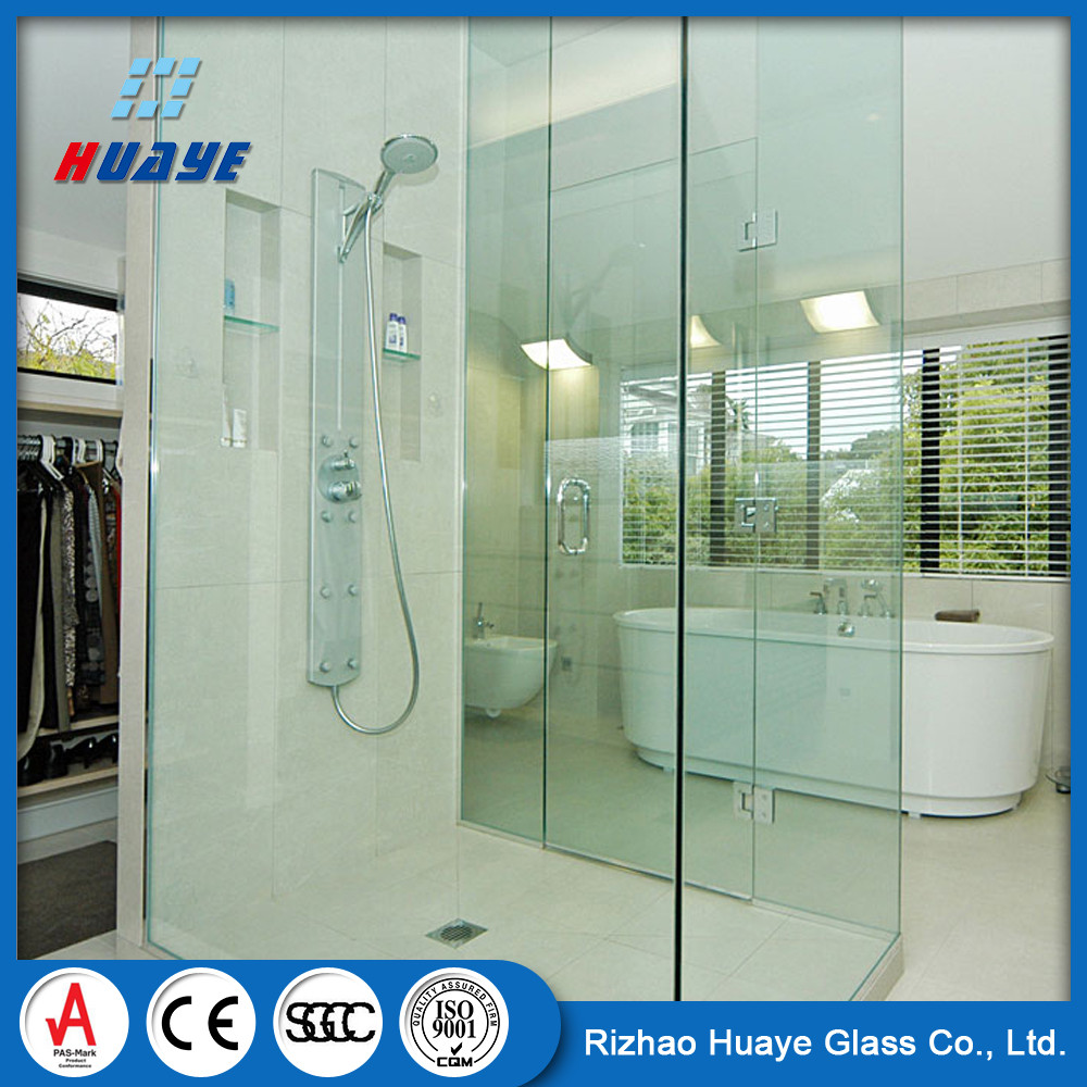 6mm 8mm 10mm Interior Clear Tempered Glass Shower Door