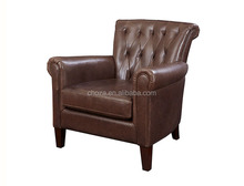 F50227A-1High quality french style leather sofa hotel designs of single seater sofa
