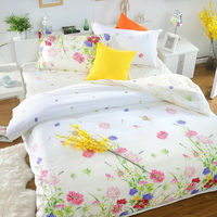 Custom made design printed bed sheet wholesale