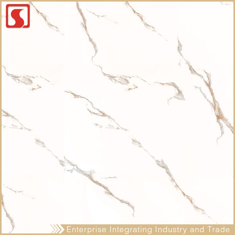 Manufacture 600X600Mm Bathroom White Color Floor Tile With Wave