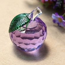 Glass Crystal Apple Purple/ glass apple ornament /decorative apples Tree