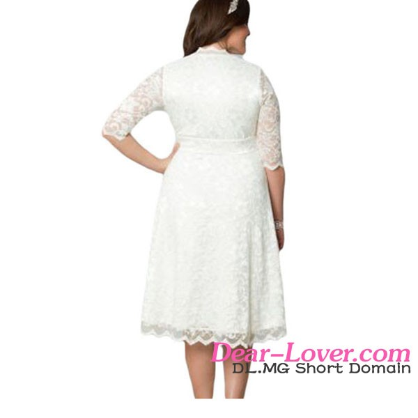 Custom Wholesale Scalloped Trim Black Lace Dress Sexy Plus Size Women Clothing