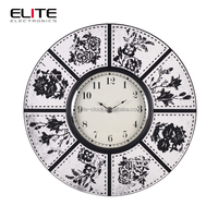 graceful antique hanging home decoration craft wood custom print wall clocks