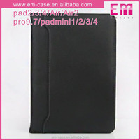 PU Wallet Case For iPad mini with Mirror Card Flip Holder Case cover portable cell phone case