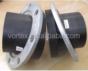 Ductile iron backup flange for PE pipe