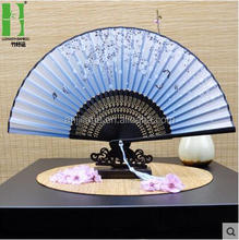 Japanese fabric printed traditional custom handheld folding fan