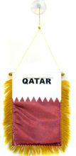 "Wholesale lot 12 Qatar Mini Flag 4""x6"" Window Banner w/ suction cup"